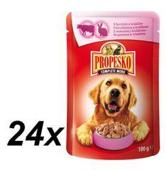 Propesko mokra karma w saszetkach dla psa - wołowina + królik 24 x 100 g