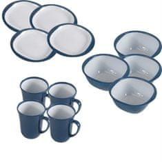 Kampa Set krožnikov in skodelic Blue za kampiranje