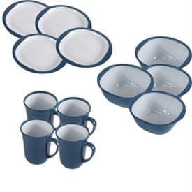 Kampa Set tanjura i šalica Blue za kampiranje