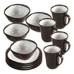 Kampa Set krožnikov in skodelic Charocal za kampiranje