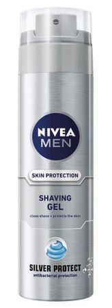 Nivea FOR MEN gel na holení Silver Protect 200 ml