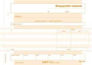 Alea Obrazec Blagajniški izdatek ALEA A5 samokopirni 6.62