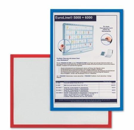Piši-Briši magnetni okvir za poster A4 AS135 R, rdeč