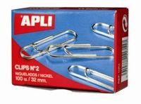 Apli Sponke APLI, št. 3, 40 mm, 1/100, srebrne