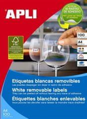 Apli Odstranljive Etikete APLI, 25,4 x 10 mm 189/stran, 25 listov