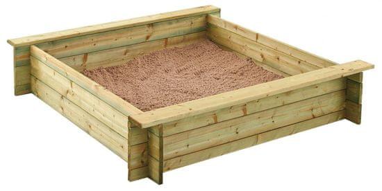 TRIGANO Dřevěné pískoviště Alix 120 x 120 x 25 cm