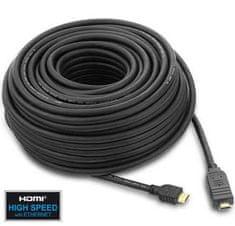 PremiumCord HDMI High Speed, 15 m, integrovaný zosilovač