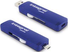 Integral adapter microUSB na USB s USB stickom Integral Slide 3.0 OTG, 32 GB