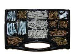 Lesni vijaki v škatli 620-delna garnitura vijakov, vložkov in čepov