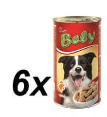 Akinu pseće konzerve Bely, 6 x 1250 g