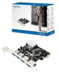 LogiLink PCI-E razširitvena kartica PC0057A, 4x USB 3.0