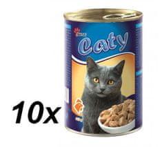 Akinu Caty kúsky v omáčke s hydinovým pre mačky 10 x 416g