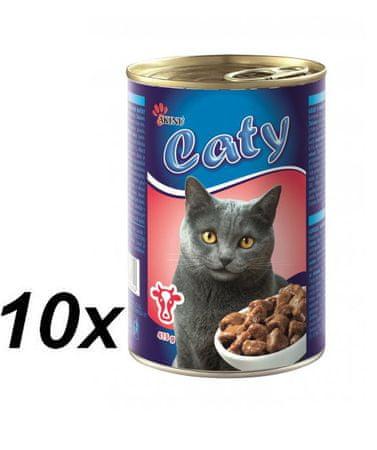 Akinu Caty kousky v omáčce s hovězím masem 10 x 416g