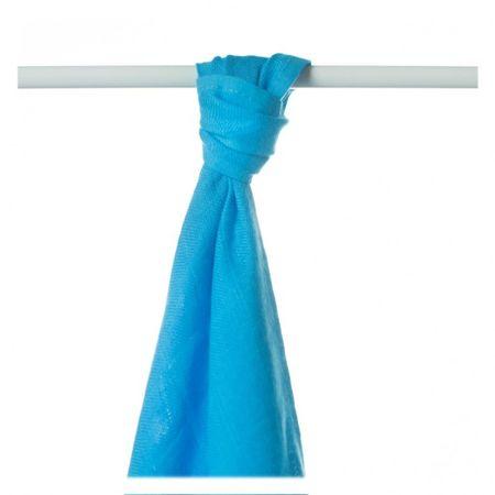 XKKO Bambusová osuška/plienka 90x100 cm - Cyan farebná