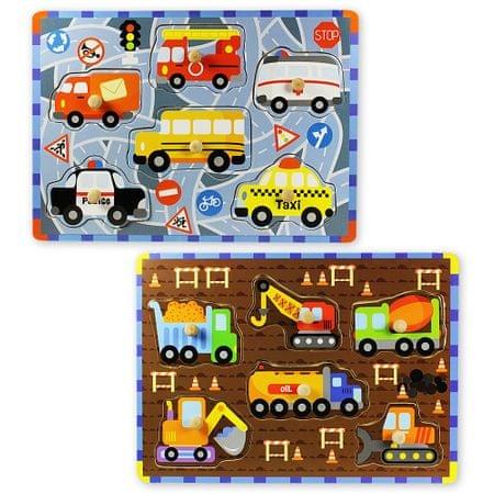 Marionette Puzzle szett Fajáték, 2 db, Járművek