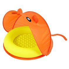 Bestway Felfújható medence narancssárga tetővel
