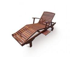 V-Garden leżak drewniany SPA