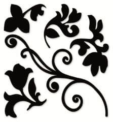 Crearreda zidna dekorativna naljepnica, crna grana