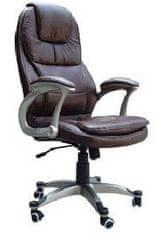 Hyle pisarniški stol K-8893B, črno usnje