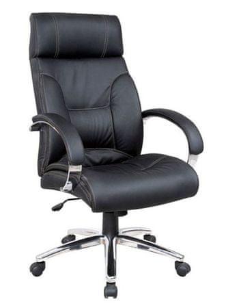 Hyle pisarniški stol K-8868B, usnje črno