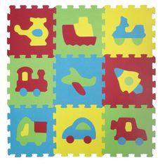 Ludi Puzzle piankowe 84x84 cm, pojazdy