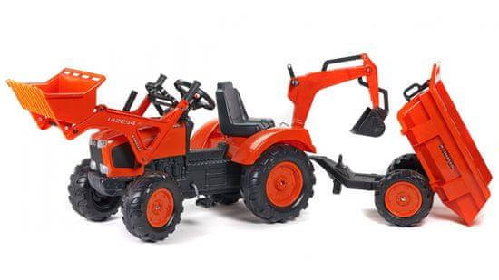 Falk Kubota traktor predný nakladač + sklápací príves
