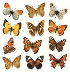 Crearreda zidne dekorativne naljepnice, šareni leptiri (54453)