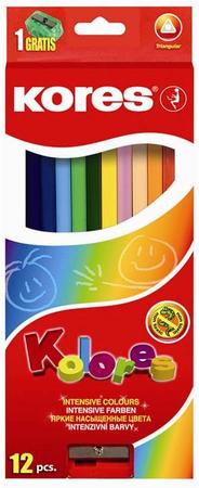 Kores barvice trikotne, 12 kos
