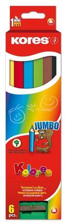 Kores barvice Jumbo, 6 kos