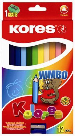 Kores barvice Jumbo, 12 kos