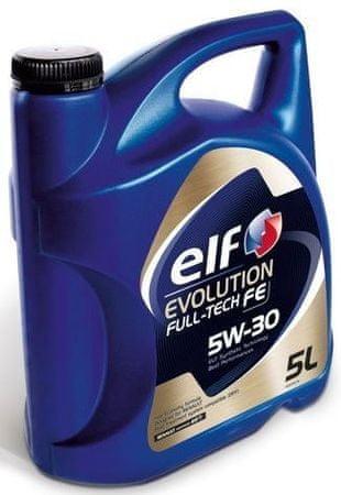 Elf motorno olje Evolution Fulltech FE 5W-30, 5 L (DPF)