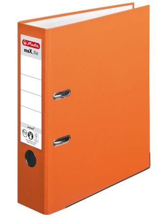 Herlitz maX.file registrator, A4, 8 cm, oranžen