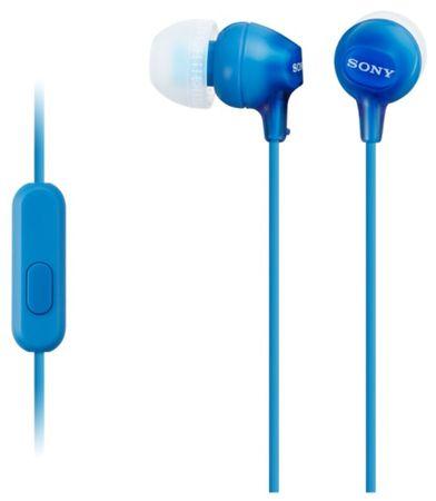 Sony slušalice MDR-EX15AP, plave