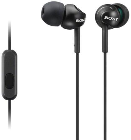 SONY MDR-EX110AP fülhallgató, Fekete