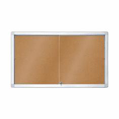 Piši-Briši nutarnja oglasna vitrina s plutom GK112A4PD, 70 x 141 cm, 12x A4