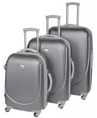Leonardo zestaw walizek podróżnych Trolley set ABS 3 elementy, szary