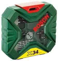 Bosch 34 dielna sada vrtákov a skrutkovacích bitov X-line Classic