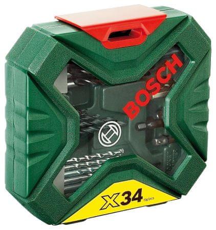 Bosch komplet svedrov in vijačnih nastavkov X-Line Classic 34 (2607010608)