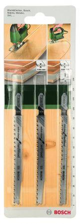 Bosch zestaw 3 brzeszczotów do wyrzynarek - typ T (do twardego drewna)
