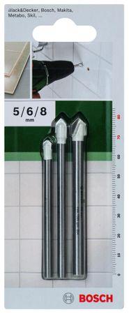 Bosch Vrtalniki ploščic SET 5,6,8 mm