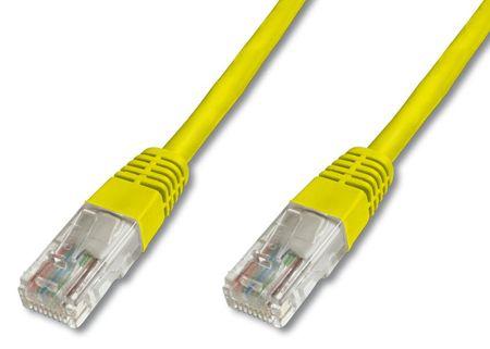 Digitus UTP mrežni kabel Cat5E patch, 3 m, rumen