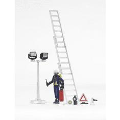 BRUDER Požiarnický set, figúrka, rebrík, svetlo