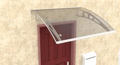 Igotherm daszek nad drzwi 120/100, stelaż z aluminium