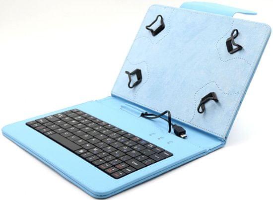 """C-Tech """"PROTECT pouzdro univerzální s klávesnicí pro 7""""""""-7,85"""""""" tablety, FlexGrip (NUTKC-01L) modré - zánovní"""""""