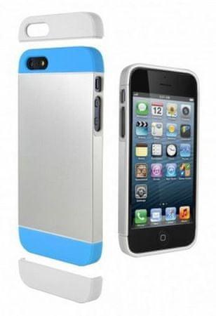 Cygnett Zaščitni etui ALTERNATE + zaščita zaslona za iPhone 5S/5 Srebrna/modra