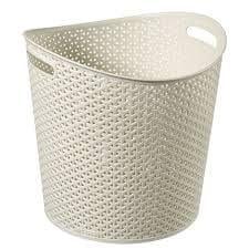 Curver košara za perilo, ratan, 30 l, bela