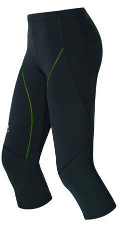 ODLO Damskie legginsy biegowe 3/4 Fury Black/Green S