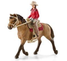 Schleich Westernová jazdkyňa na koni