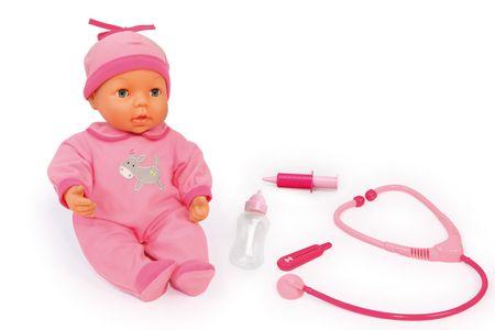 Bayer Design dojenček s kompletom za zdravnika, 38 cm