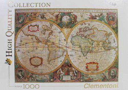Clementoni HQC sestavljanka Old Map, 1000 kosov (31229)